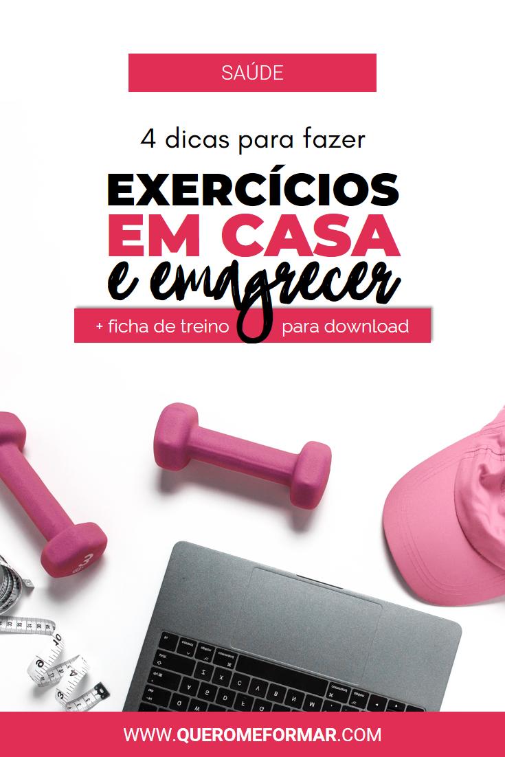 Imagem de Divulgação para Pinterest Como Fazer Exercícios em Casa em 4 Passos Simples