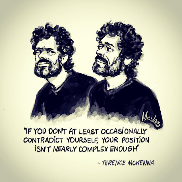 Terence McKenna. A Dialectic With Myself: Practical Yin Yang Approach to Coincidentia Oppositorum
