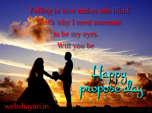 best propose shayari in english