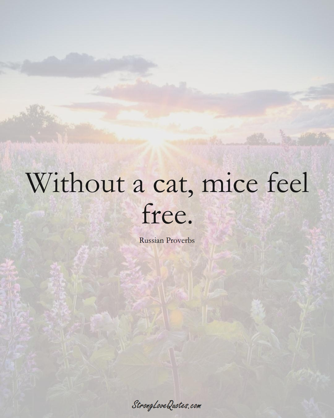 Without a cat, mice feel free. (Russian Sayings);  #AsianSayings
