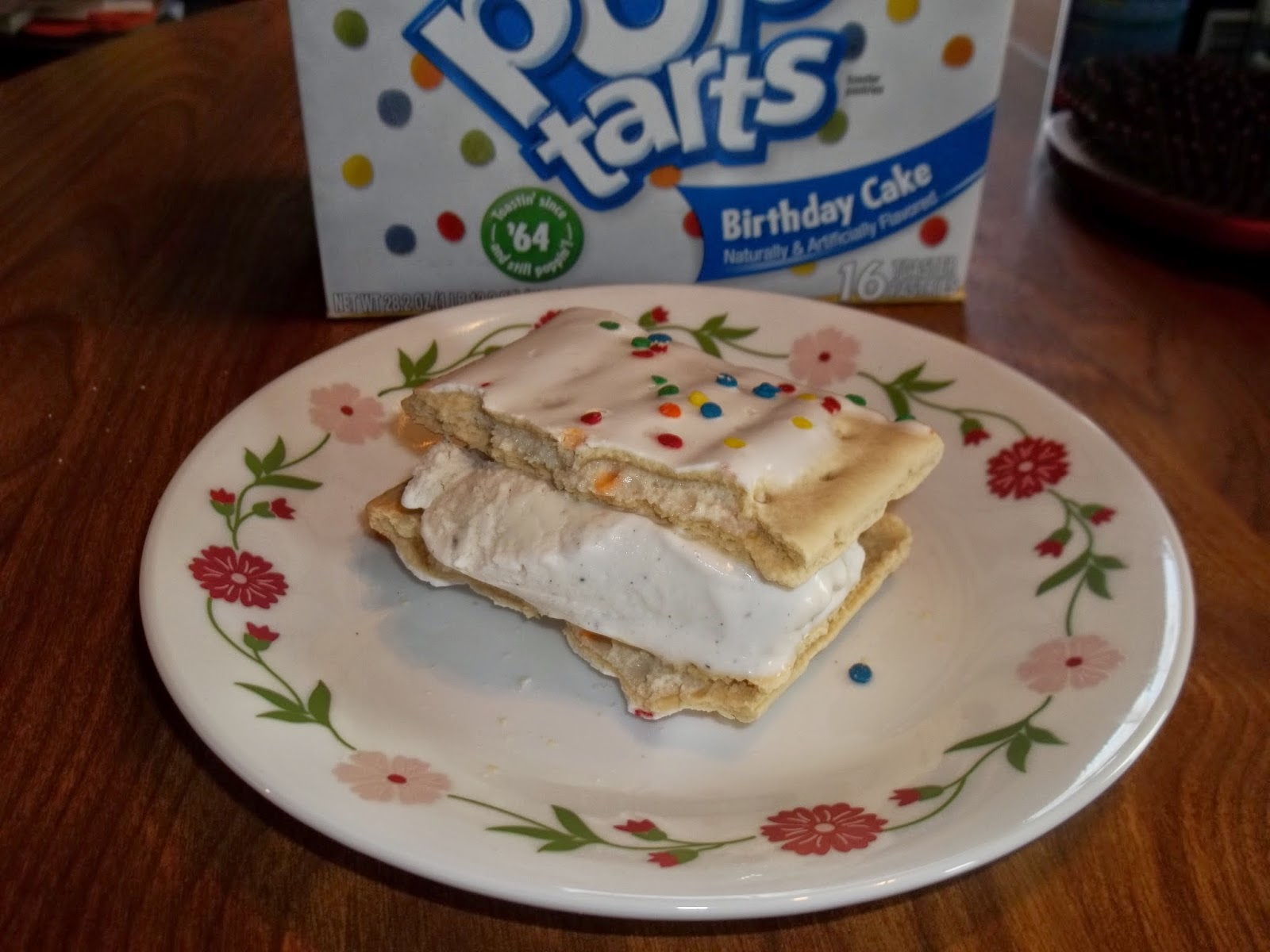 We Also Decided To Try Them Out As An Ice Cream Sandwich Using Vanilla Between The Two Halves Of A Birthday Cake Pop Tart See Photo Above