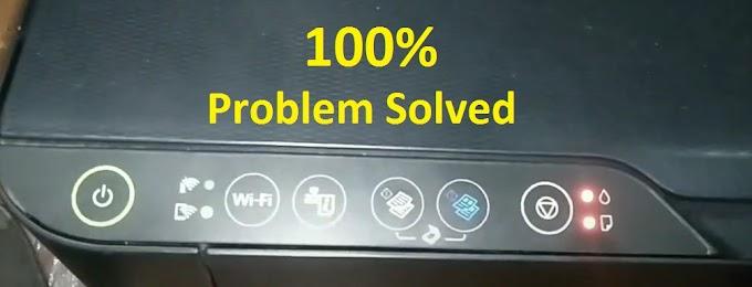 Epson L3150 Red Light Blinking Problem Solution