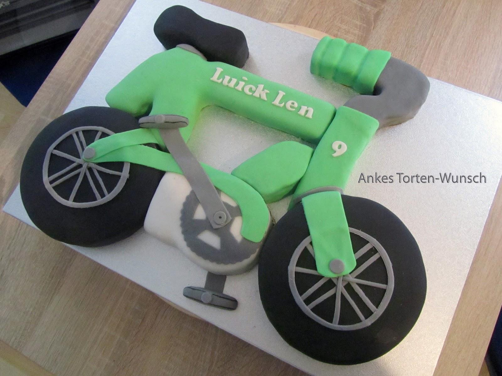 Fahrrad Torte Kuchen Bike Cake Marmorkuchen Fondant Fahrrad