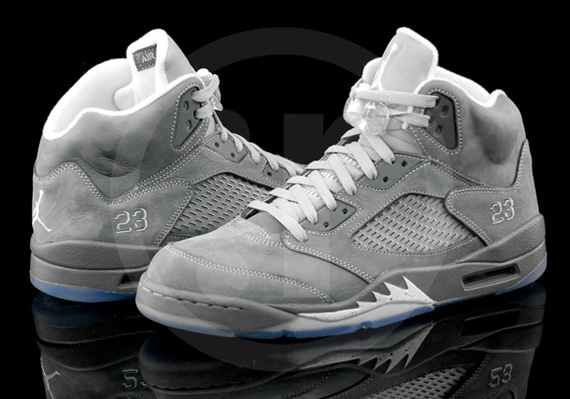 52cb60eeac0 BillAxx: Jordan 5 wolf gray.The Air Jordan 5 Retro features a Wolf ...