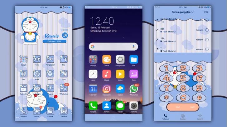 Tema Doraemon Untuk Android Oppo Terbaru
