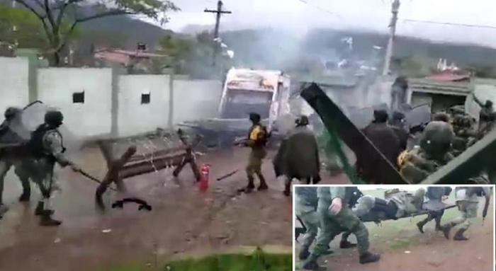 Video: Así atacaron pobladores integrantes del Narco a Soldados en Cuartel Militar de Aguililla; Michoacán