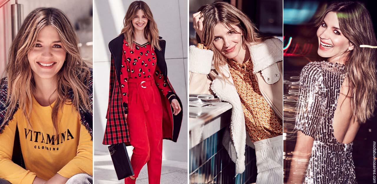 Moda otoño invierno 2019 ropa de mujer estilo casual urbano. │ Moda invierno 2019. Vestidos, monos, blusas, pantalones, abrigos otoño invierno 2019.