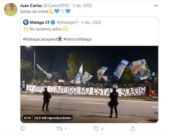 El Málaga muestra sus condolencias por Juan Carlos Delgado