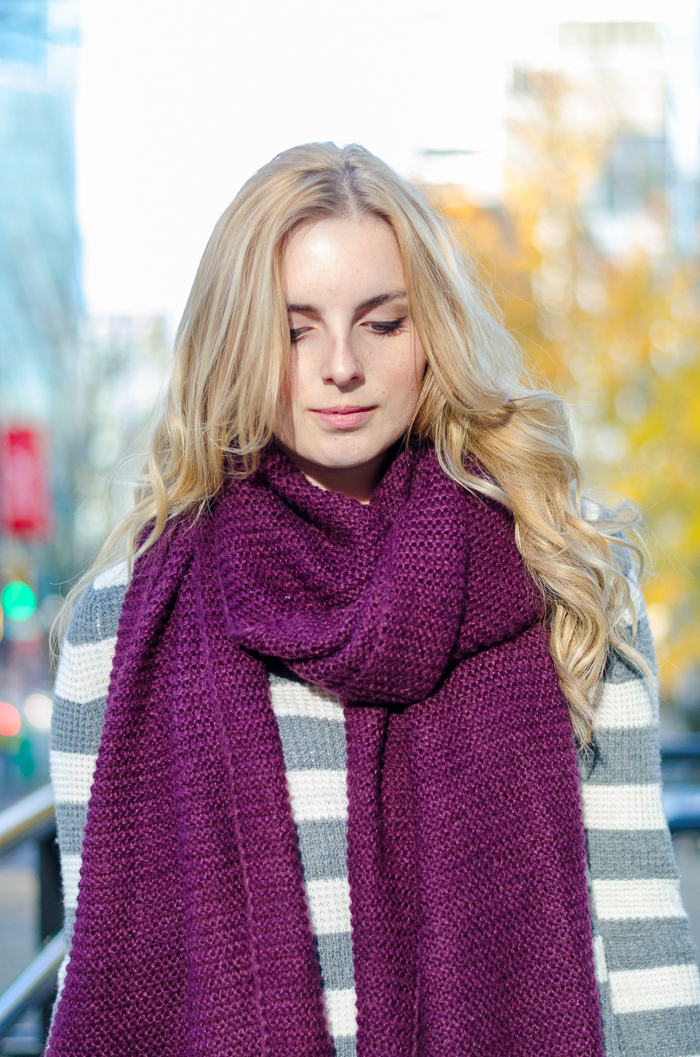 How to style a blanket scarf, winter outfits