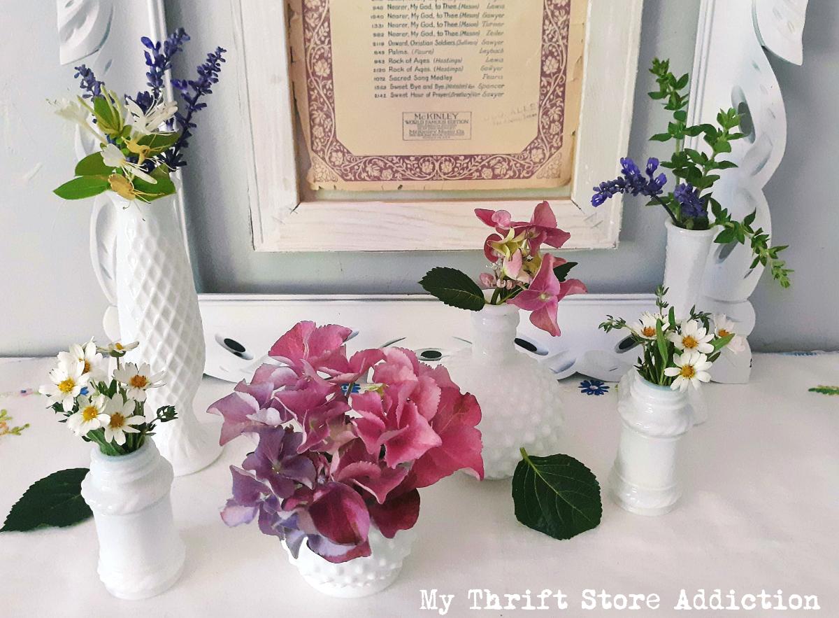 May flowers summer mantel