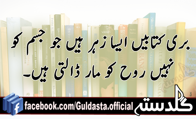 Poetry Book Cover Generator : Successive quotes in urdu part guldasta