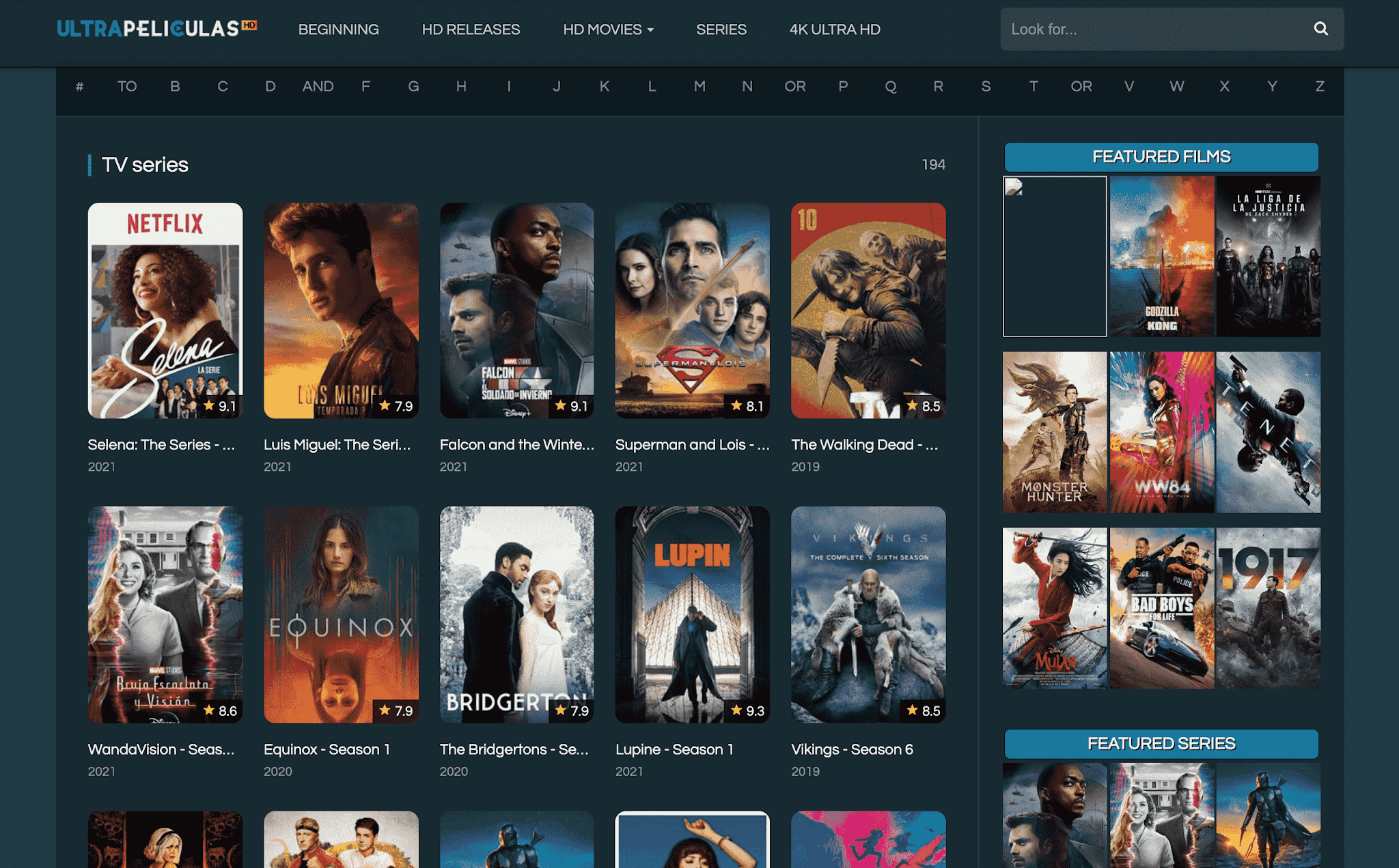Watch Movies & Series Online on Ultrapeliculashd.com