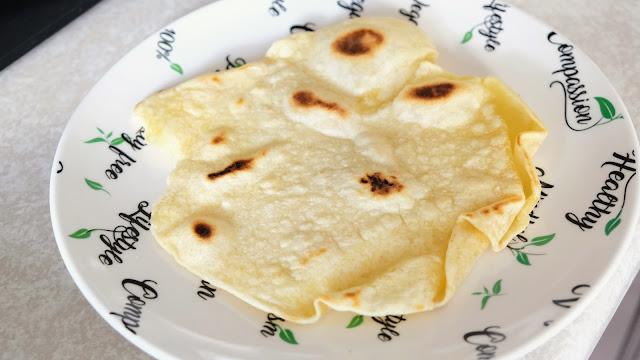Flatbread on plate