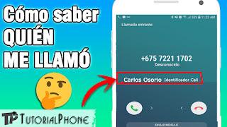 cómo saber quien me llama por teléfono