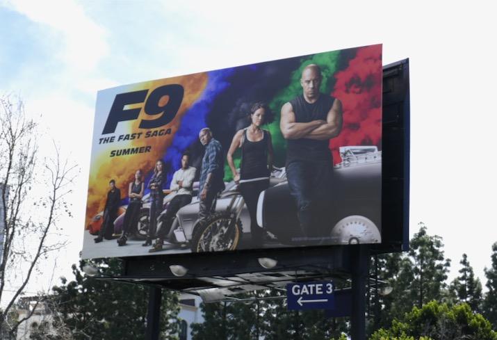 Fast Furious F9 movie billboard