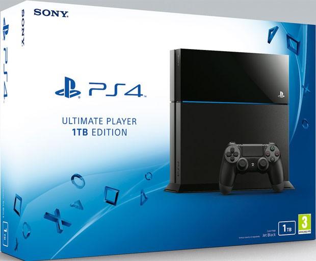 Sony anuncia PS4 com versão de 1TB de armazenamento