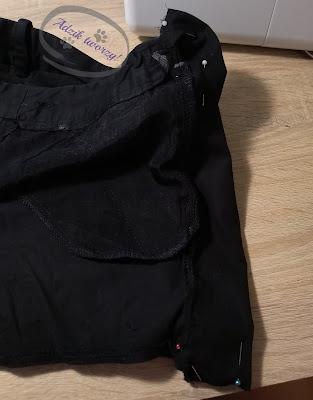 Adzik tworzy - poszerzanie spodni w pasie DIY