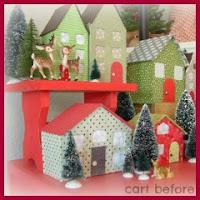 Casitas navideñas con cartón