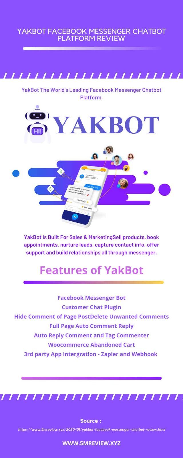 YakBot Facebook Messenger Chatbot Platform Review