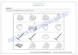 Atividade para crianças achar figura diferente dificuldade imprimir pdf