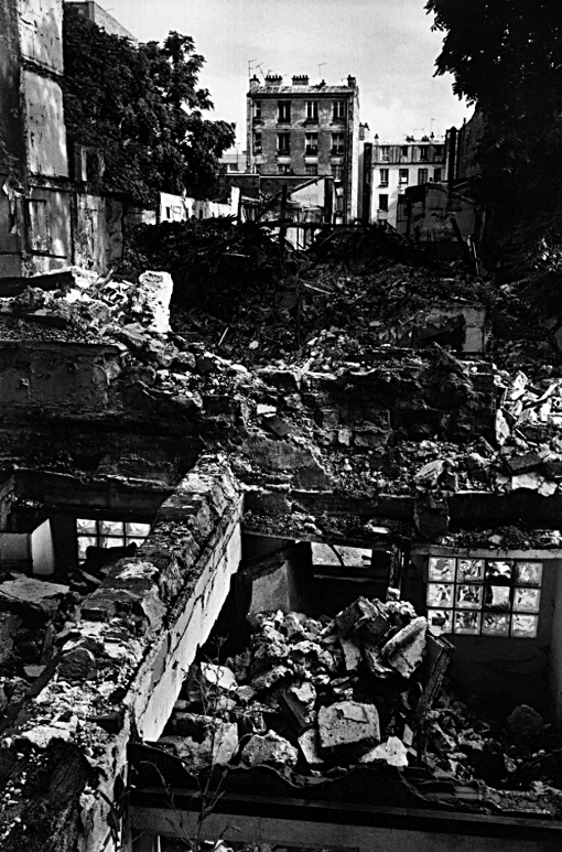 Rénovation destruction vieux paris ruines jacques chirac Chiraquie belleville paris franck chevalier paris