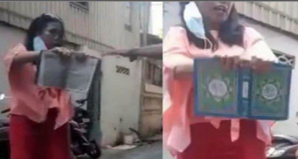 Ngaku Yahudi, Wanita Ini Banting Al Qur'an Berkali-kali, Usai Ditangkap Kok Malah Nangis Gini