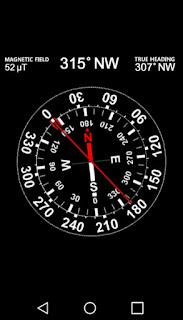 aplikacja android kompas