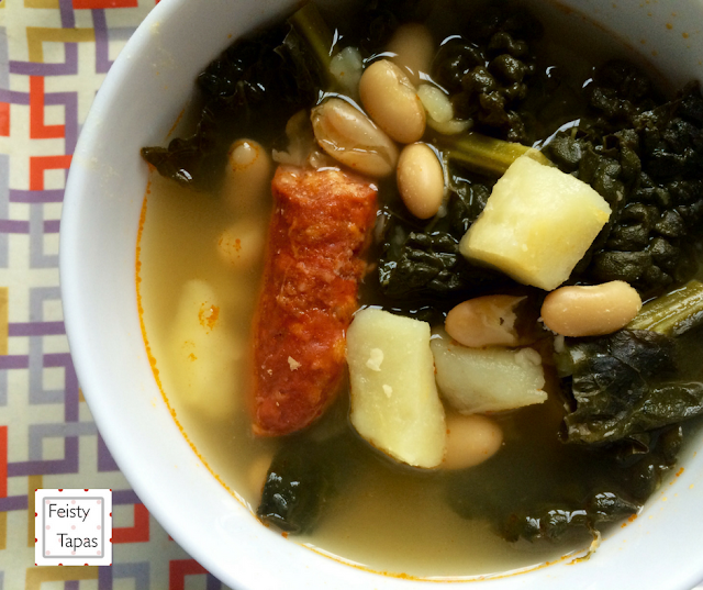 Instant Pot Soup with Greens, Beans, Potatoes and Chorizo