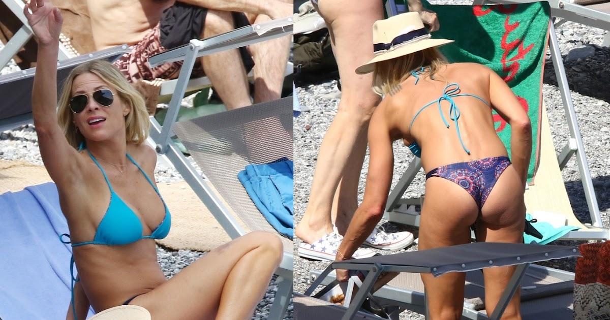 Brittany Daniel Hot Nipple Slip In A Tiny Blue Bikini