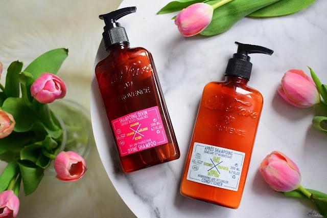 Pielęgnacja włosów kosmetykami La Fare: szampon Divine Shampoo i odżywka Nourishing Conditioner. Zamówienie ze sklepu topestetic.pl