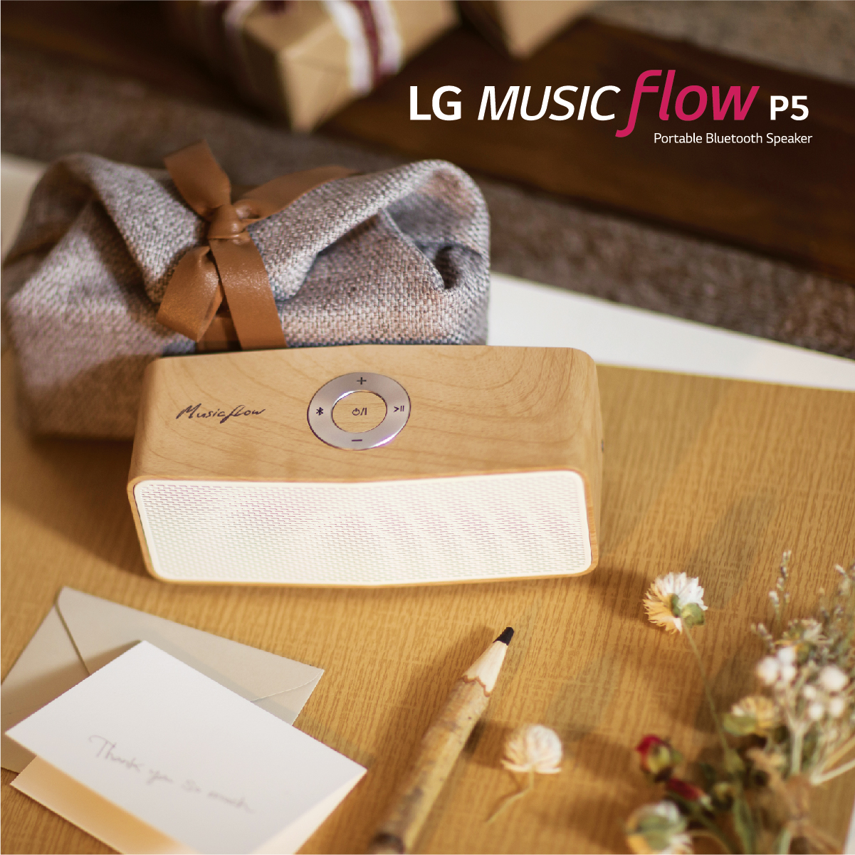 LG Music Flow P5 Wooden Speaker