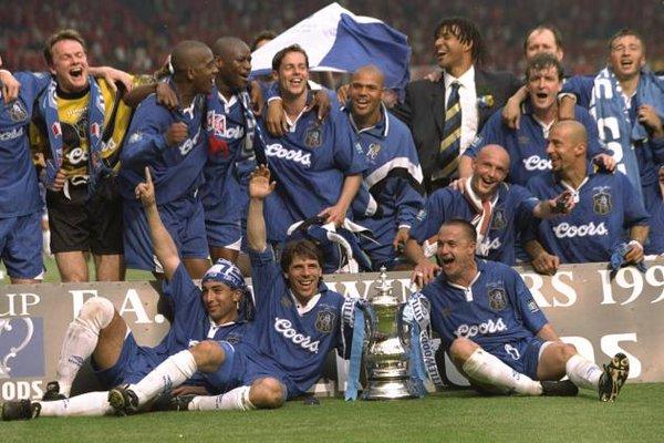 Chelsea saat juara Piala FA 1997