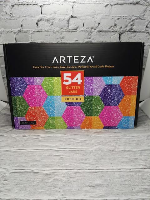 Arteza porporina glitter per decorare la resina epossidica 54 colori