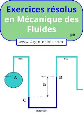 exercices de mécanique des fluides avec solutions pdf