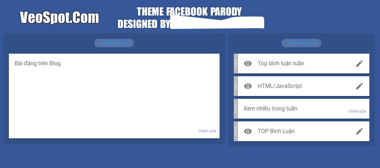 Phần bố cục của giao diện template blogger rất đơn giản
