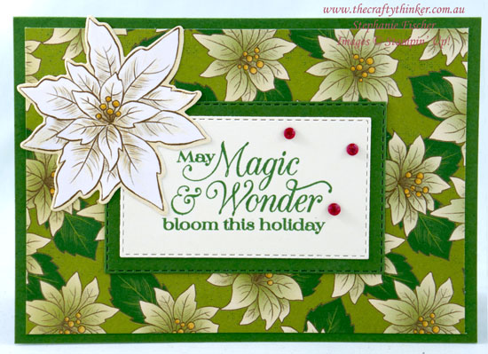 #thecraftythinker #stampinup #cardmaking #christmascard #poinsettiaplace , Poinsettia Place, Easy Christmas card, Stampin' Up Demonstrator, Stephanie Fischer, Sydney NSW