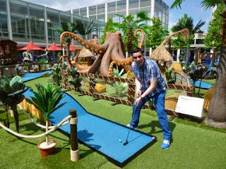 A kraken on the pop-up Pirate Adventure Golf at the Centre MK in Milton Keynes