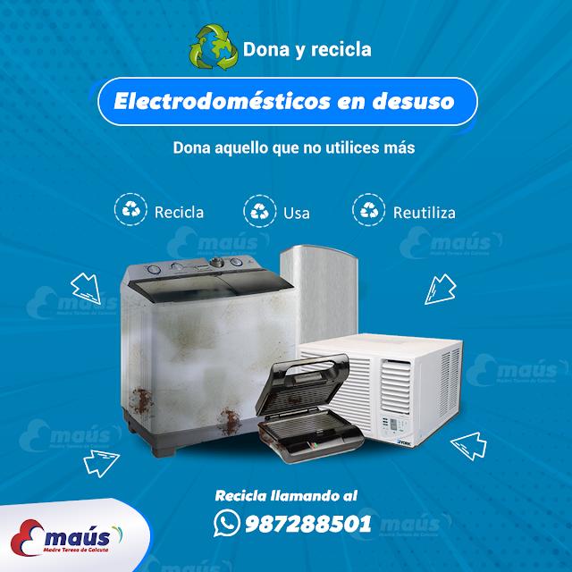 Reciclaje electrodoméstico en desuso