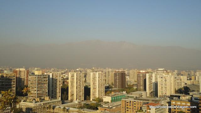 Santiago e a Cordilheira dos Andes - Vista panorâmica do Cerro Santa Lucía