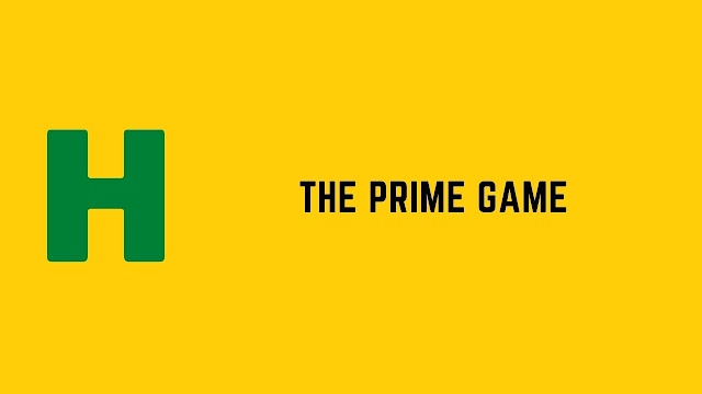 HackerRank The Prime Game problem solution