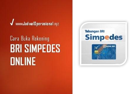 Buka Rekening BRI Simpedes Online