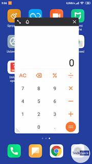 Xiaomi Redmi Note 4 MIUI 11 Kalkulator w oknie pop up