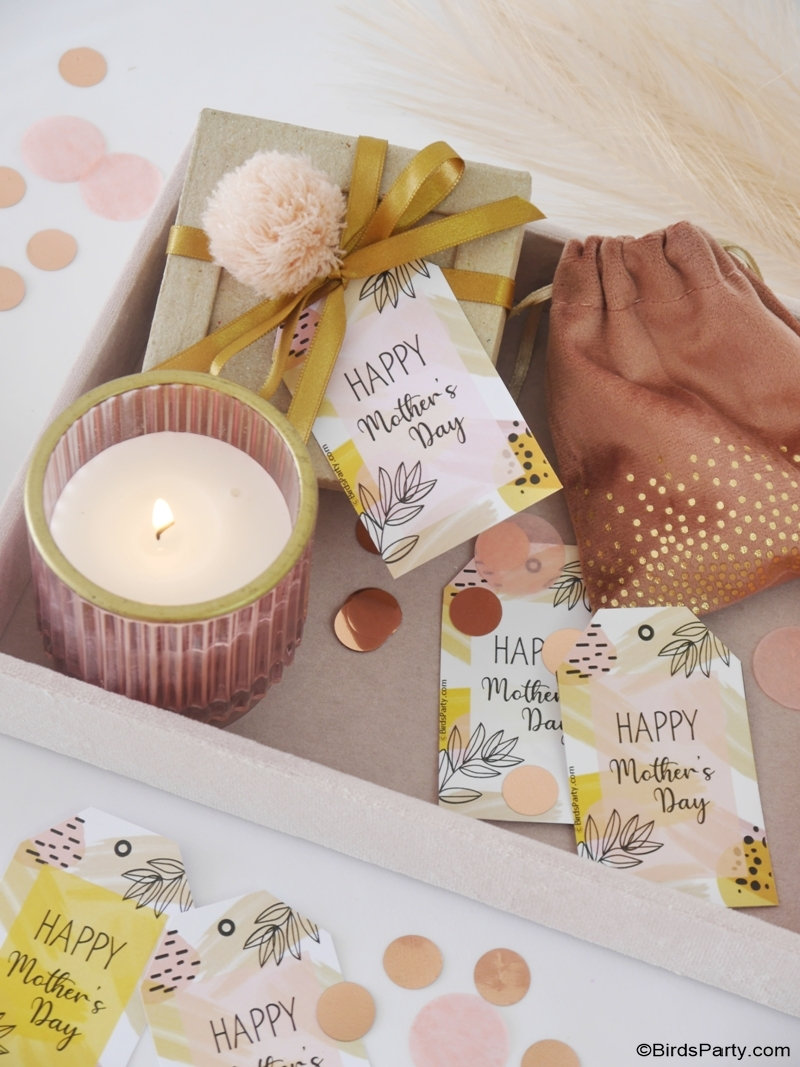 FREE Printable Mother's Day Boho Gift Tags