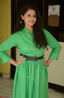 Geethanjali in Green Dress at Mixture Potlam Movie Pressmeet March 2017 047.JPG