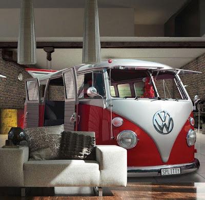 Volkswagen Camper Van Wall Mural