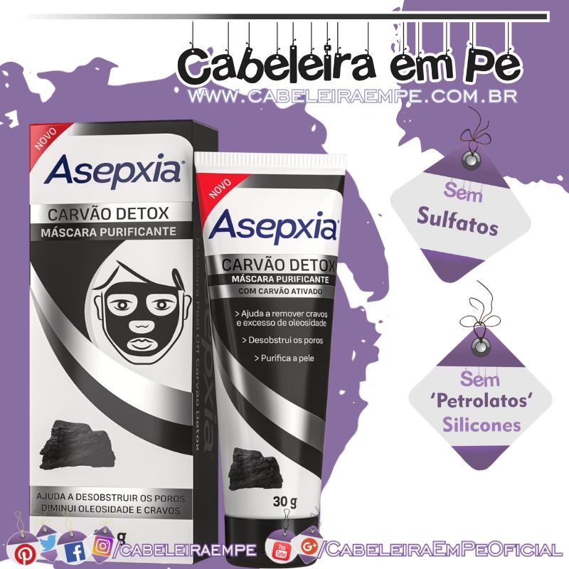 Máscara Purificante Carvão Detox - Asepxia