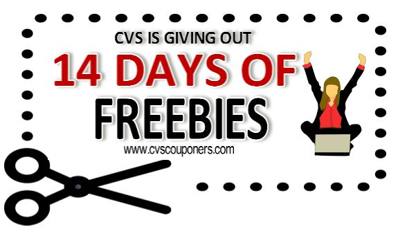 cvs couponers cvs 14 days of freebie deals