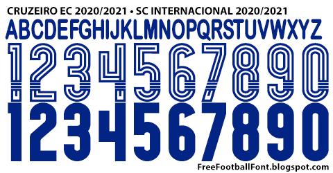 free football fonts cruzeiro ec 2020 2021 sc internacional 2020 2021 adidas font sc internacional 2020 2021 adidas font
