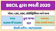 BECIL Requirement 2020 for 727 Hospital Attendant, LDC, UDC and other post