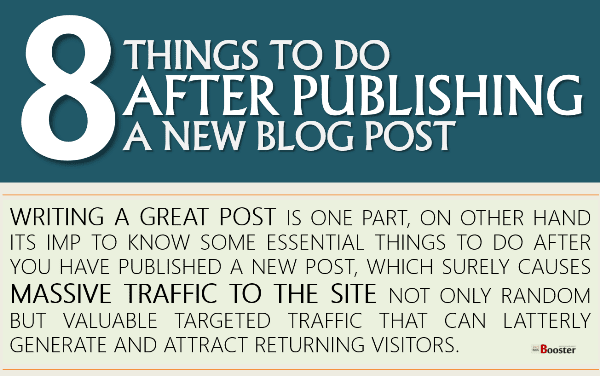Blog Post Checklist AFTER Publishing A New Blog Post